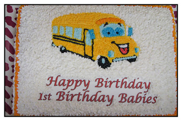 School Bus Cake  - Buttercream