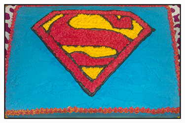Superman Logo Cake - Buttercream